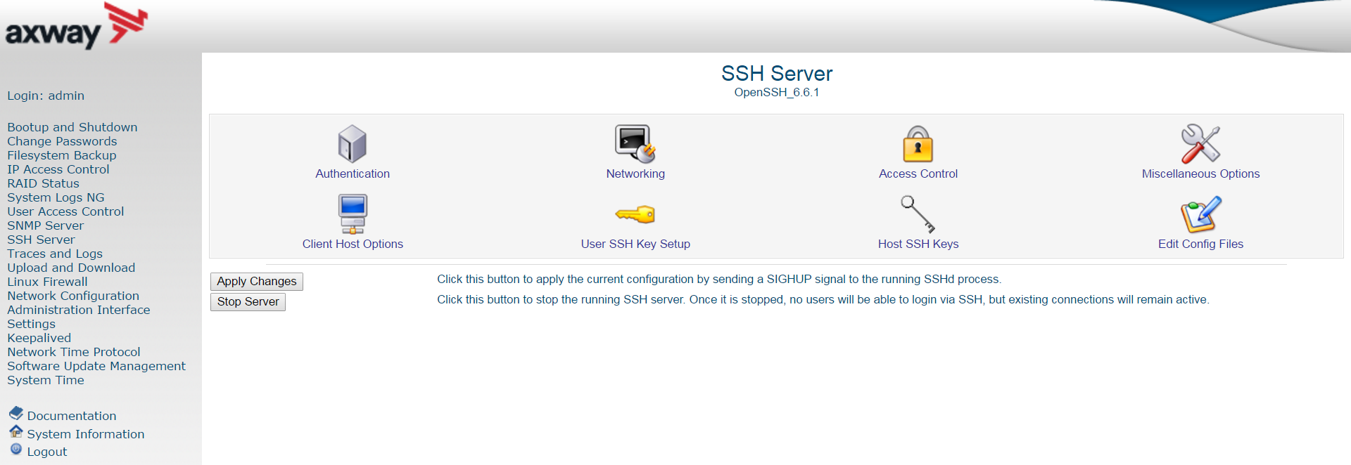 Manage ssh the buttons at the bottom enable you to manage the ssh server as follows 1betcityfo Image collections