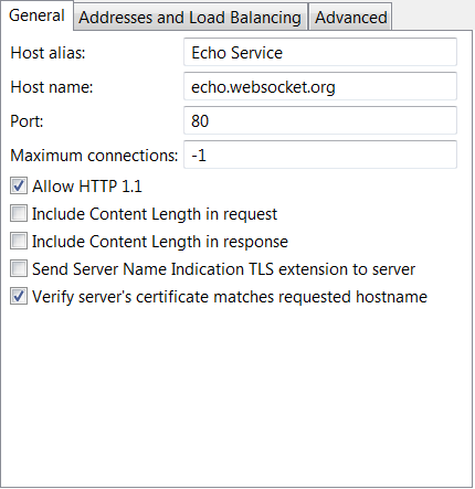 Configure WebSocket connections