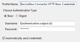 Configure a connector for ServiceNow APIs