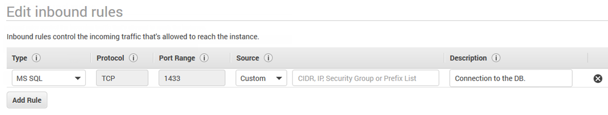 Deploy MS SQL database in Amazon RDS