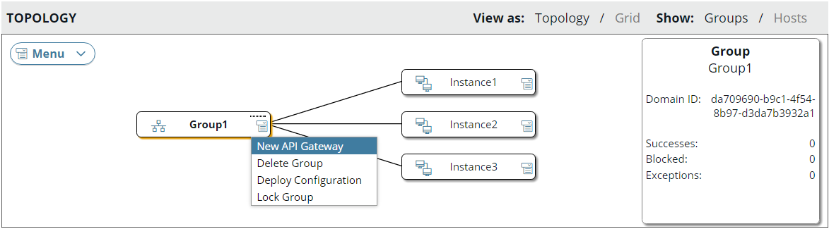 Manage groups in API Gateway Manager