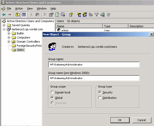 Create an Active Directory LDAP group