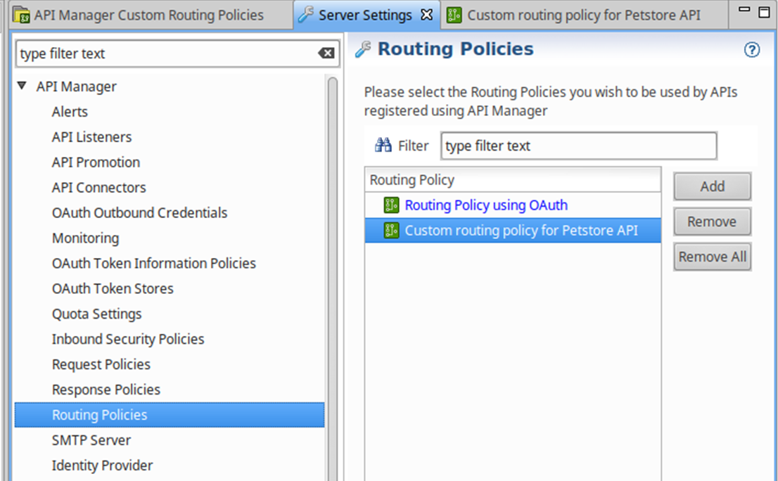 Configure an API Manager routing policy