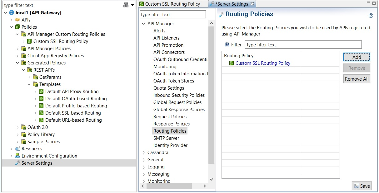 Configure a Custom SSL Routing Policy