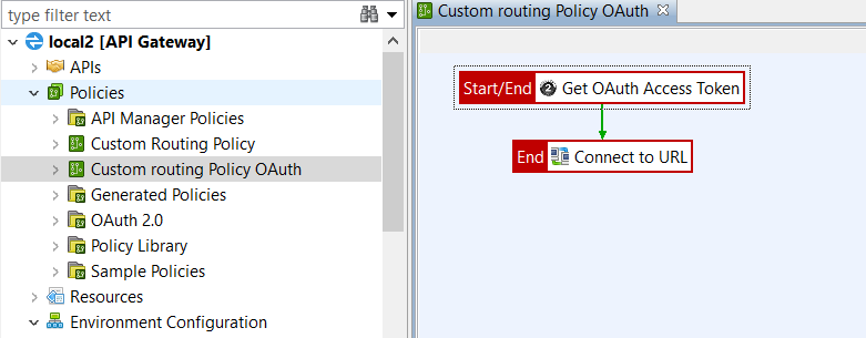 Create custom routing policy using OAuth in Policy Studio
