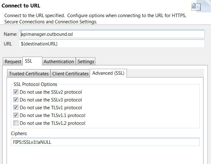 Connect to URL with SSL settings