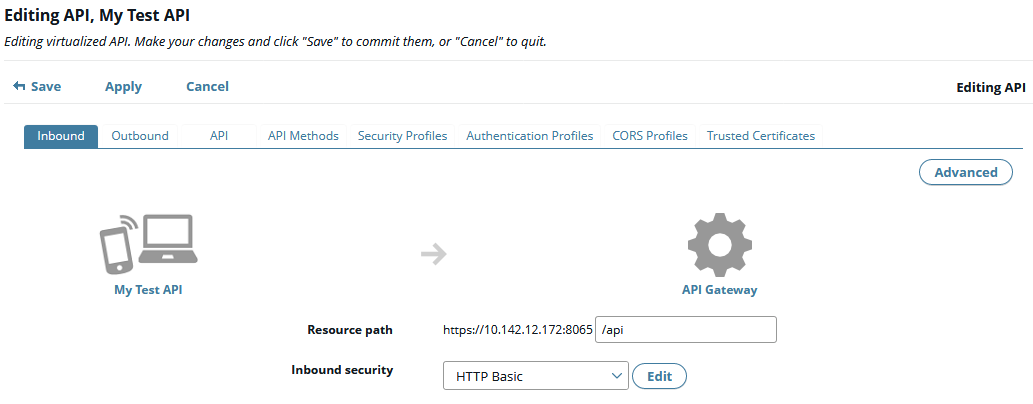 Front-end API in the web console