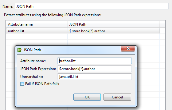 Retrieve Attribute List using JSON Path Expression