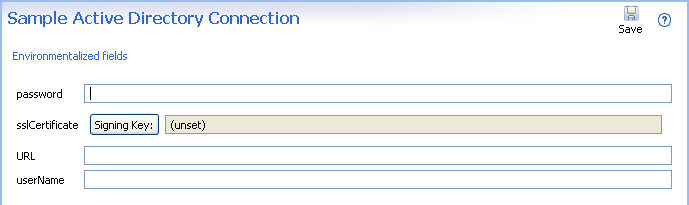 Edit database connection in environment settings