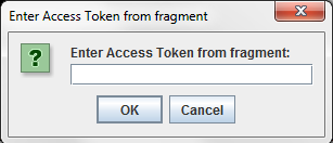 Entering OAuth 2.0 Access Token