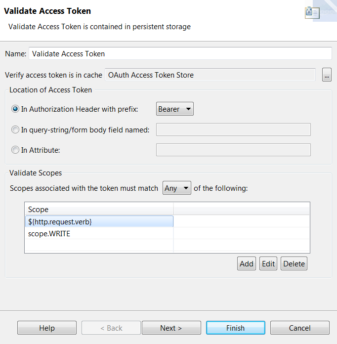 Validate Access Token example